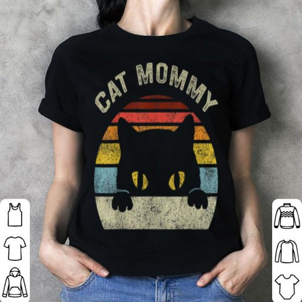 Nice Cat Mommy Women Vintage Retro Black Cats Mom Mothers Day shirt