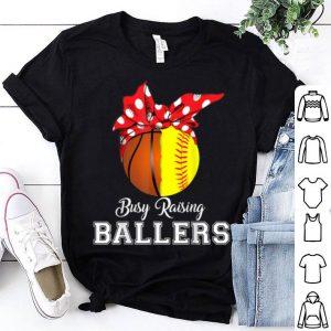 Official Basketball Softball Busy Raising Ballers Mothers Day shirt