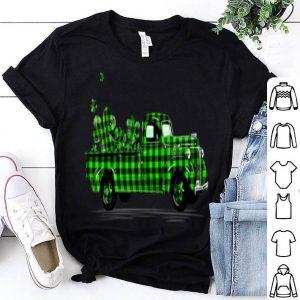 Official Buffalo Plaid Shamrock Pickup Truck Cute St Patricks Day shirt
