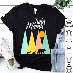Original Twin Mom Mama Bear For Women Camping Bear And Cubs Tee shirt