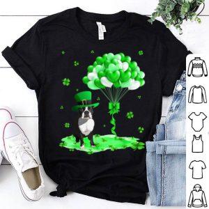 Premium Boston Terrier Leprechaun Hat Shamrocks St Patrick's Day shirt