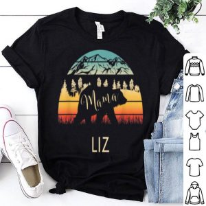Premium Liz Name Gift Retro Sun Personalized Mama Bear shirt