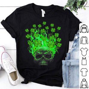 Premium Shamrock Skull St Patricks Day Irish Tattoo Lovers shirt
