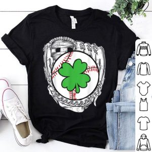 Premium St Patricks Day Baseball Catcher Softball Irish Mom Shamrock shirt