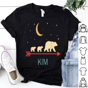 Top Kim Name Gift Personalized Mama Bear With 2 Cubs shirt