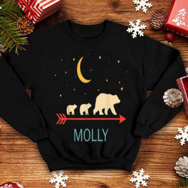 Top Molly Name Gift Personalized Mama Bear With 2 Cubs shirt