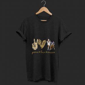 Top Peace Love Aussie shirt