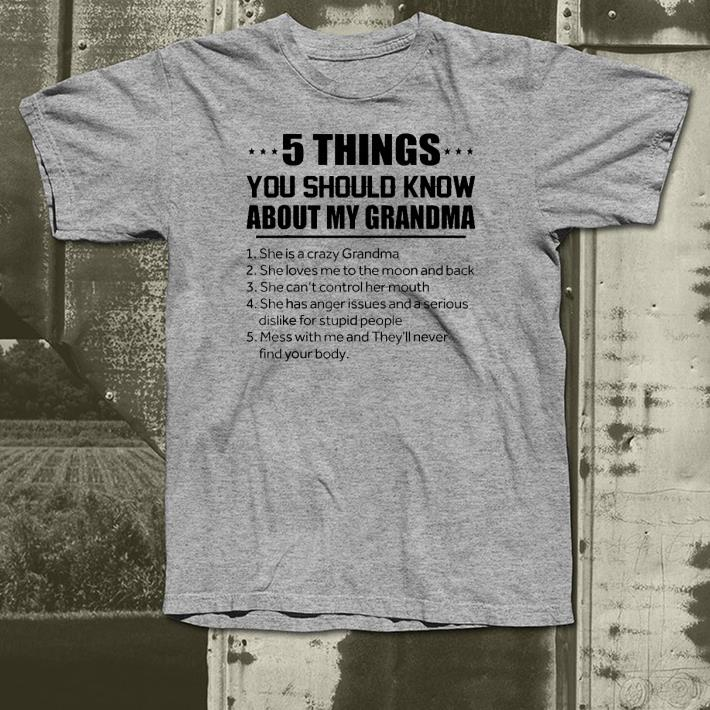 5 Things You Should Know About My Grandma shirt 4 1 - 5 Things You Should Know About My Grandma shirt