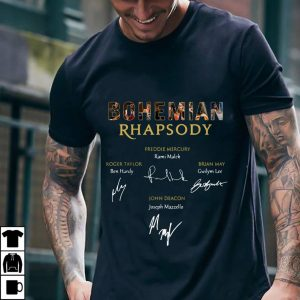 Bohemian Rhapsody Freddie Mercury Roger Taylor John Deacon Brian May Signature shirt