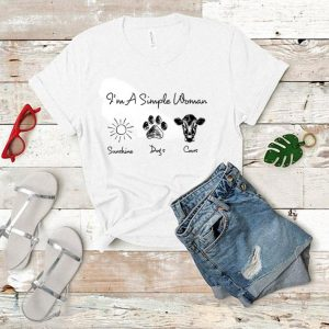 I'm a simple woman sunshine dogs and cows shirt