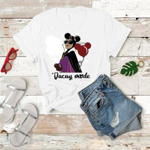 Maleficent vacay mode cream balloons Mickey Mouse shirt