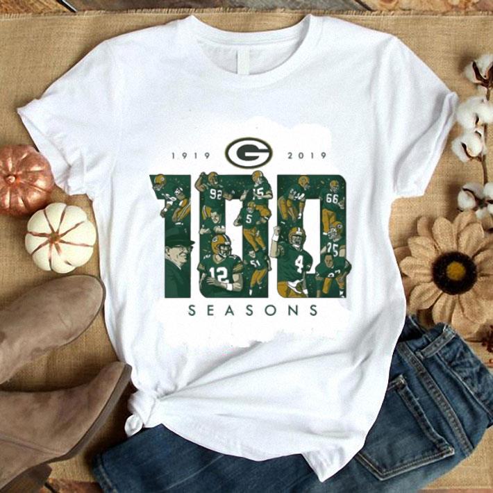 big sale 2de6b 58b7b 100 seasons Green Bay Packers 1919-2019 shirt