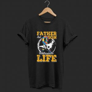 Father and Son Best Friends For life Autism Awareness shirt