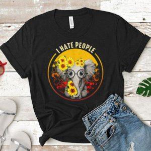 I Hate People Elephant Sunflower shirt