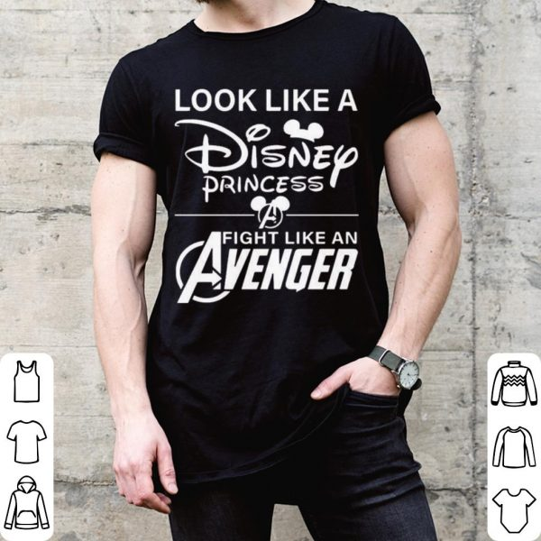Look like a disney princess fight like an avenger shirt