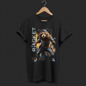 Marvel Avengers Endgame Rocket Action shirt