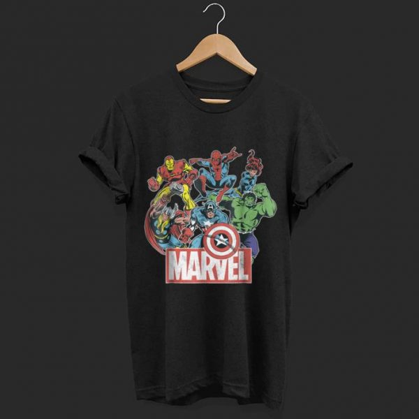 Marvel Avengers Team Retro Comic Vintage shirt
