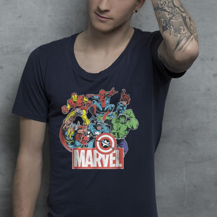 Marvel Avengers Team Retro Comic Vintage shirt 4 - Marvel Avengers Team Retro Comic Vintage shirt