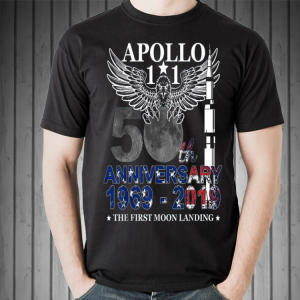 Apollo 11 50th Anniversary Moon Landing 1969-2019 shirt 1