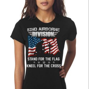 82ND Airborne Division Stand For The Flag Kneel shirt 2