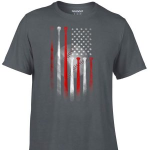 American Flag Vintage Baseball Flag Father day shirt