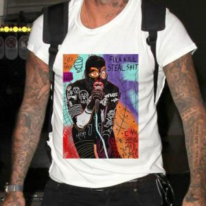 Basquiat MC Ride Fuck Kill Steal Shit shirt 1