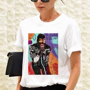 Basquiat MC Ride Fuck Kill Steal Shit shirt 2