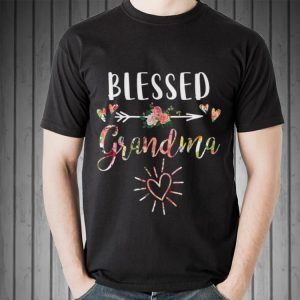 Blessed Grandma with floral heart Mother's Day shirt