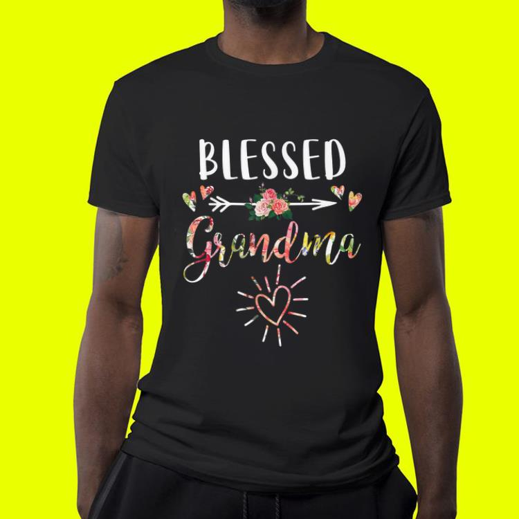 Blessed Grandma with floral heart Mother s Day shirt 4 - Blessed Grandma with floral heart Mother's Day shirt