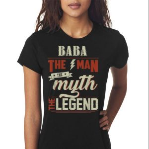 Fathers Day Grandpa Baba The Man Myth Legend shirt 2