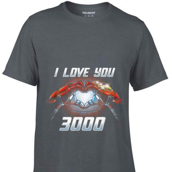 Iron man I Love you 3000 Infinity Guantlet shirt