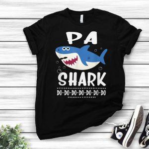 Pa Shark Doo Doo Doo Fathers Day For Husband shirt