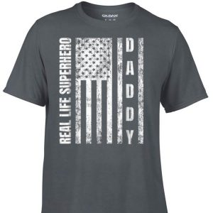 Real Life Superhero Daddy American Flag shirt