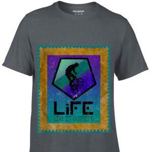 Stunt Cyclist on Life live it outside shirt