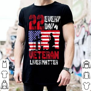 22 Everyday Veteran Lives Matter American Flag shirt