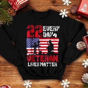 22 Everyday Veteran Lives Matter American Flag shirt