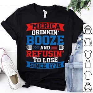 4th July America Drinking Booze Independence Day shirt
