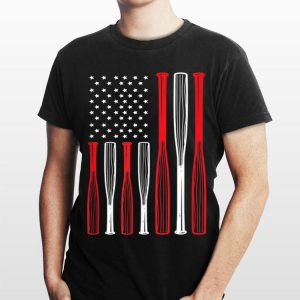 4th July Baseball Bat Distressed Usa Flag shirt