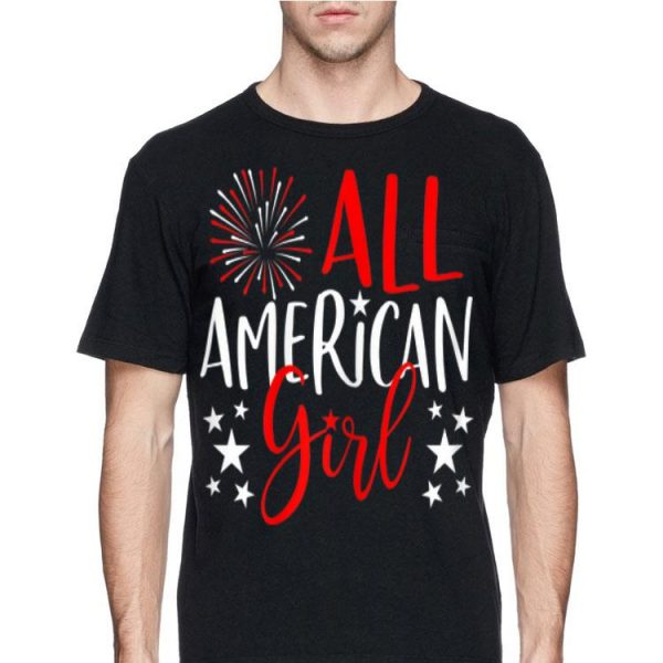 4th Of July All American Girl Fireworks Independence Day shirt