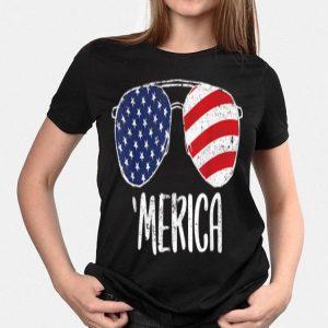 4th of July Merica Sunglasses Merica shirt