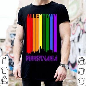 Allentown Pennsylvania LGBTQ Gay Pride Rainbow Skyline shirt