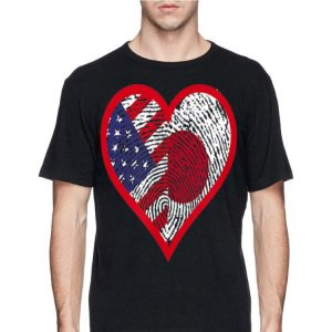 America And Japan Two Countries One Heart shirt