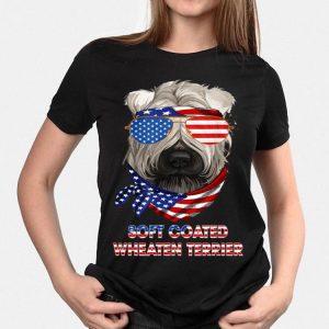 American Flag Oft Coated Wheaten Terrier Dog shirt
