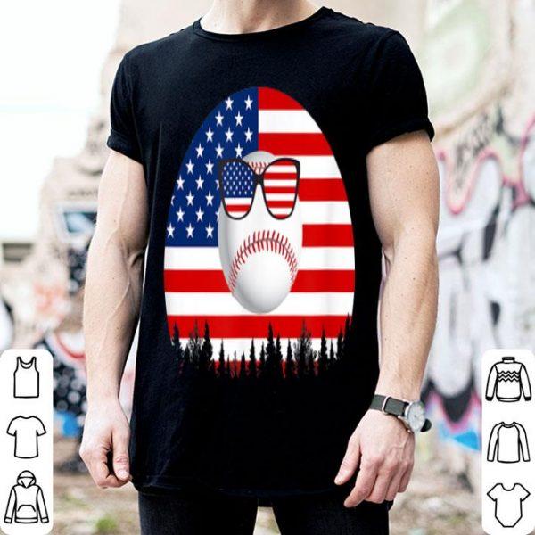 Baseball Sunglasses American Flag 4th Of July shirt