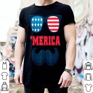 Beard Sunglasses American Flag Patriotic 4th Of July American Flag shirt