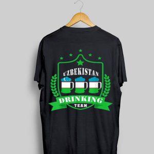 Beer Uzbekistan Drinking Team Casual Uzbekistan Flag shirt