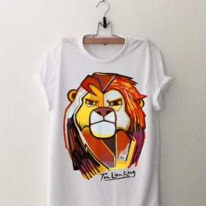 Disney Lion King Abstract Simba Face Potrait Graphic shirt