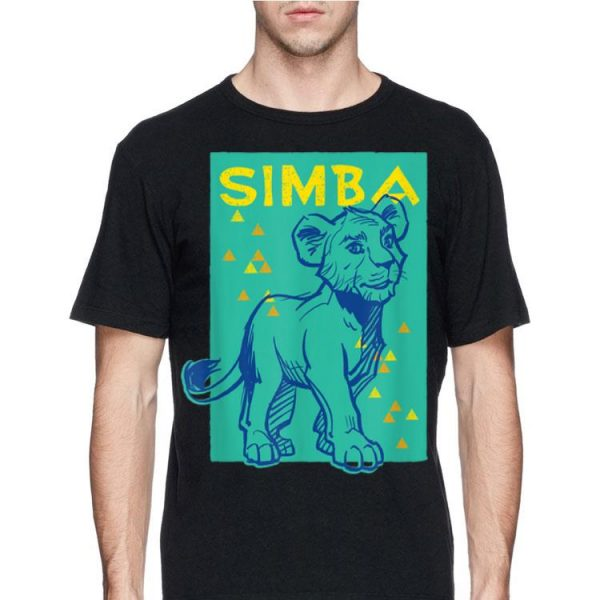 Disney The Lion King Live Action Simba Triangles shirt