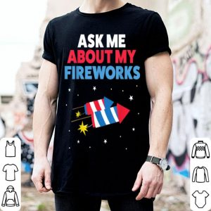 Fireworks Kids Men Party 4th Of July shirt