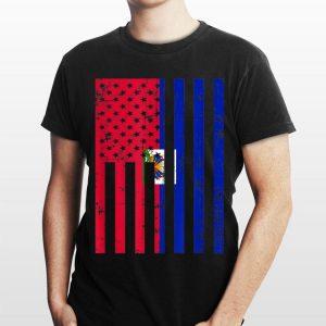 Haiti American Flag For New Us Citizen shirt